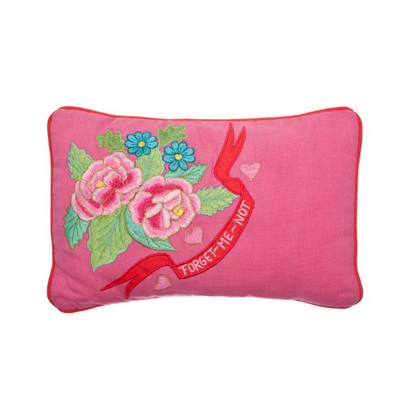 Kissen Forget me not in Pink 20x30cm