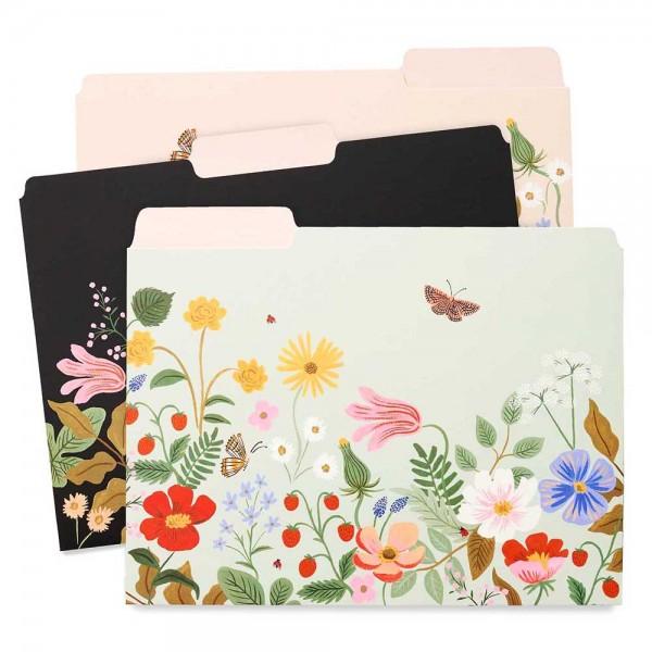 Sammelmappen * File Folders 6er-Set Strawberry Fields
