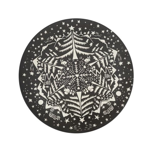 Tortenplatte XL in Black aus Bamboo
