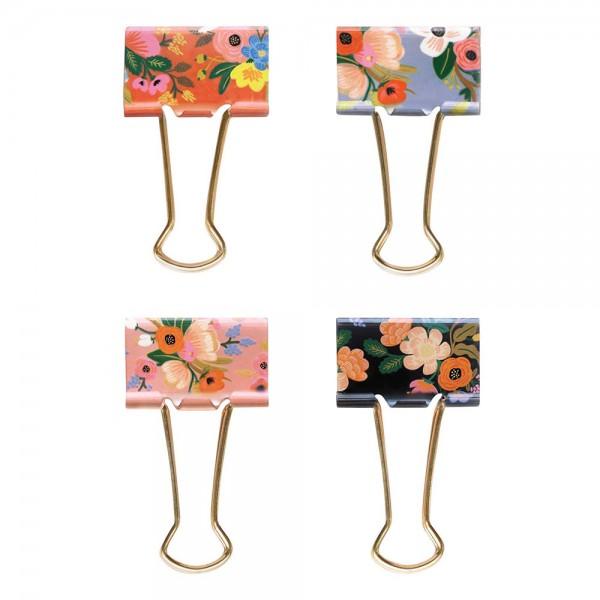 Binder Clips Lively Floral