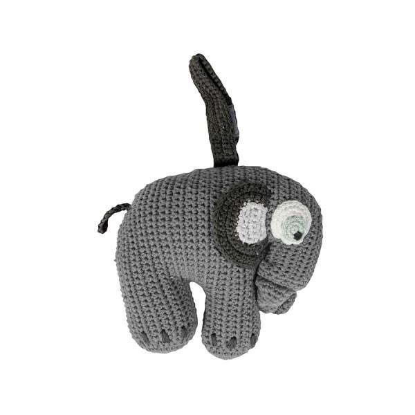 Spieluhr Elefant Fanto classic grey gehäkelt