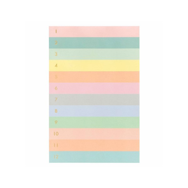 Large Memo Notepad Colorblock Numbered