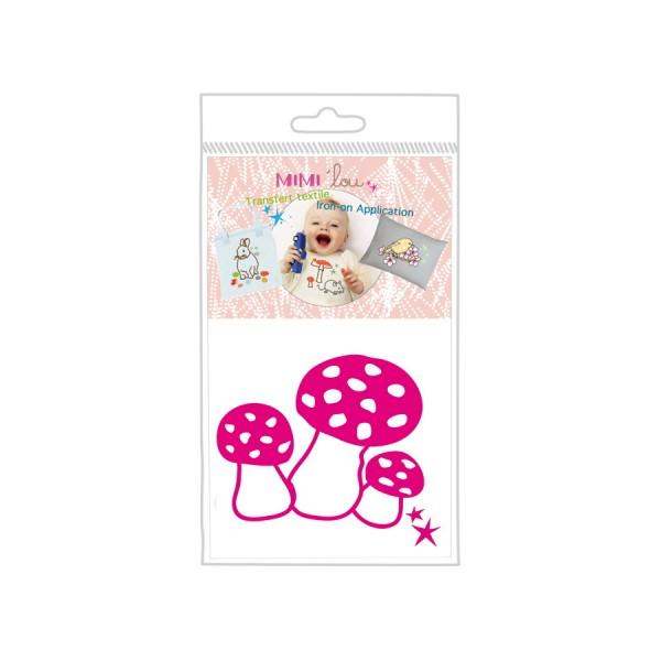 Sticker zum Aufbügeln - Motiv Pilze