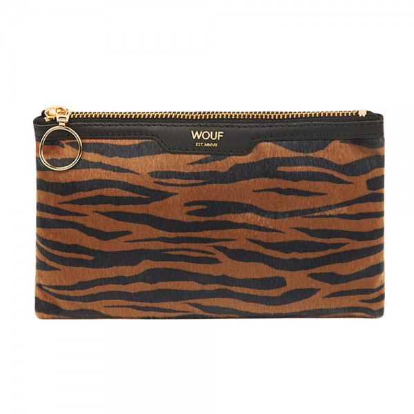 Pocket Clutch Bag Tiger aus Kunstfell