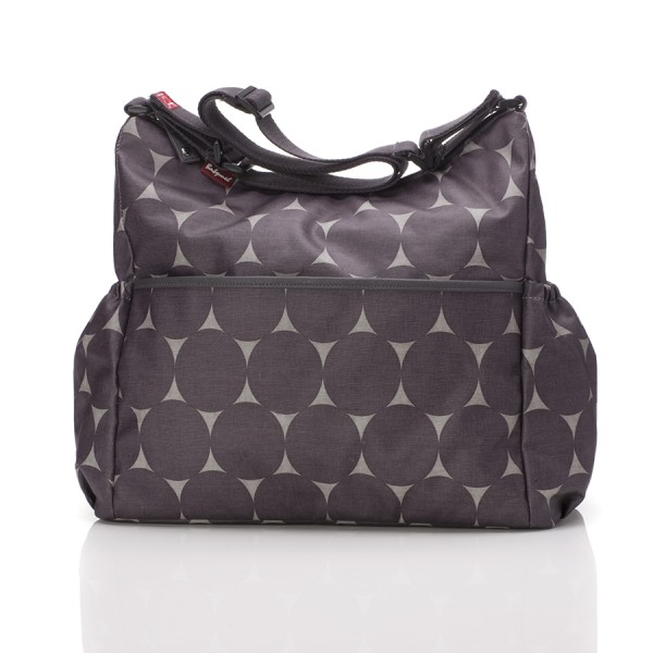 Wickeltasche Big Slouchy Jumbo Dot in Grey