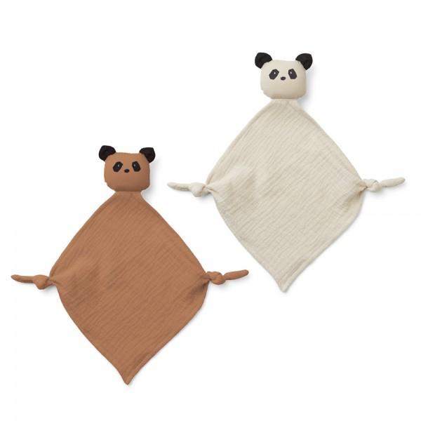 Kuscheltuch Yoko Panda mini 2er-Set tuscany rose mix