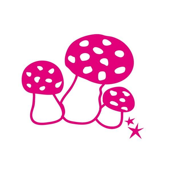 Mini-Sticker Pilze