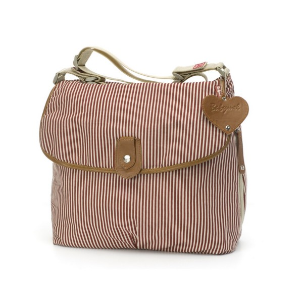 Wickeltasche Satchel in Stripe Red