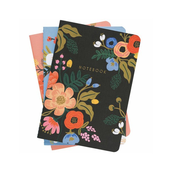 Notebook 3er-Set Lively Floral - liniert