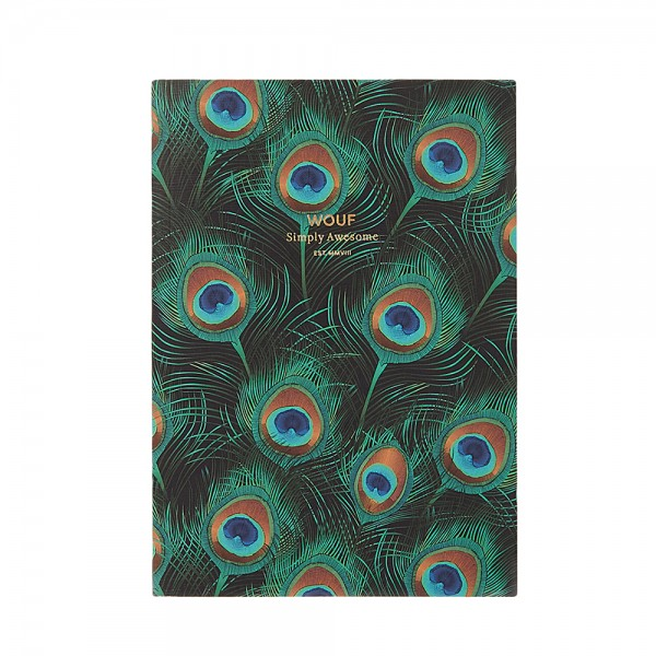 Notebook A5 liniert Peacock