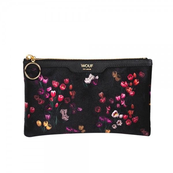 Pocket Clutch Bag Velvet Tulips