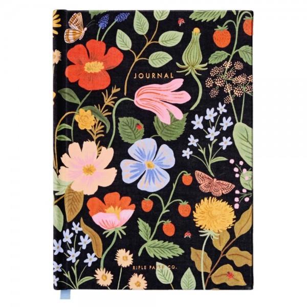 Fabric Journal Strawberry Fields liniert
