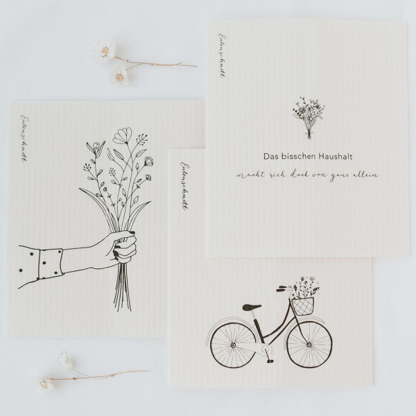 Schwammtücher Blumenliebe 3er Set