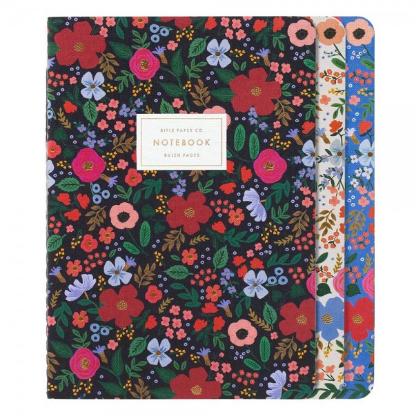 Stitched Notebook 3er-Set Wild Rose