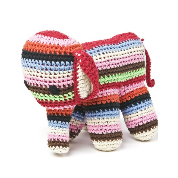Elefant gehäkelt in Multicolour