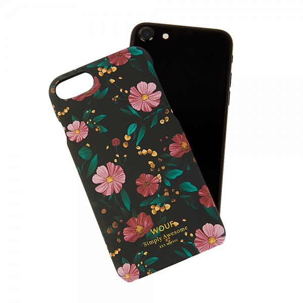 iPhone Case 6/7/8 Black Flowers