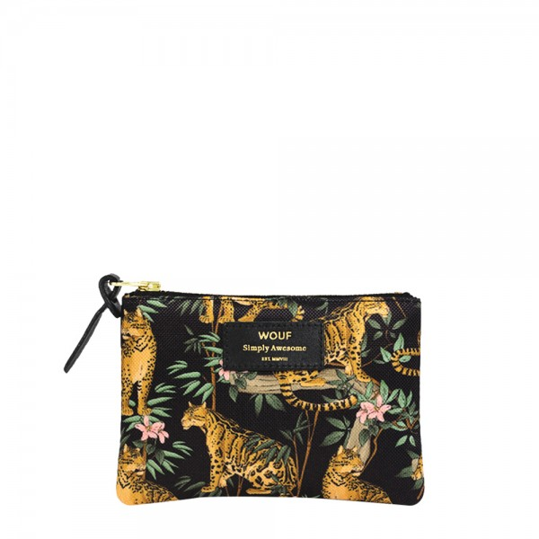 Small Pouch Bag Black Lazy Jungle