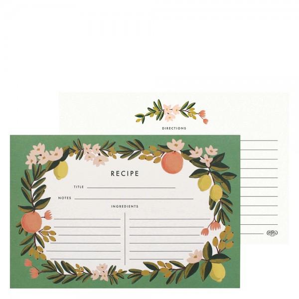 Set mit 12 Rezeptkarten Citrus Floral