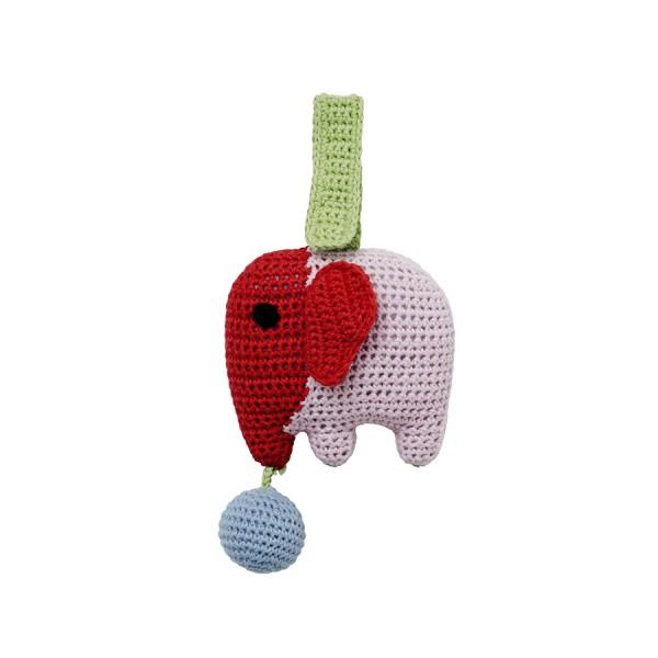 Elefant Sam in Pink Babyspielzeug Babyspielzeug mit Rassel