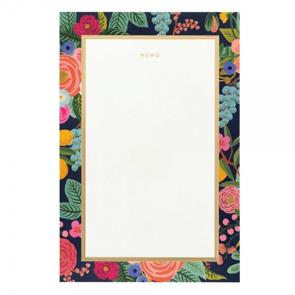 Large Memo Notepad Garden Party