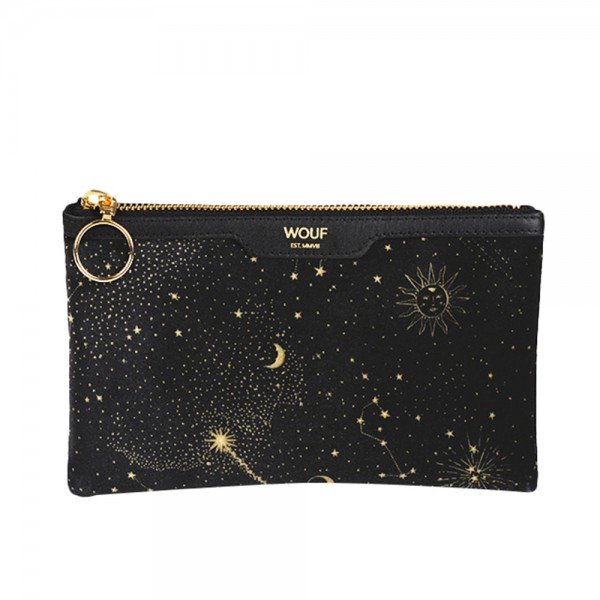 Pocket Clutch Bag Velvet Galaxy