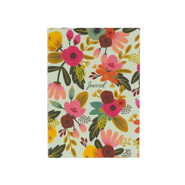 Journal Mint Floral - liniert