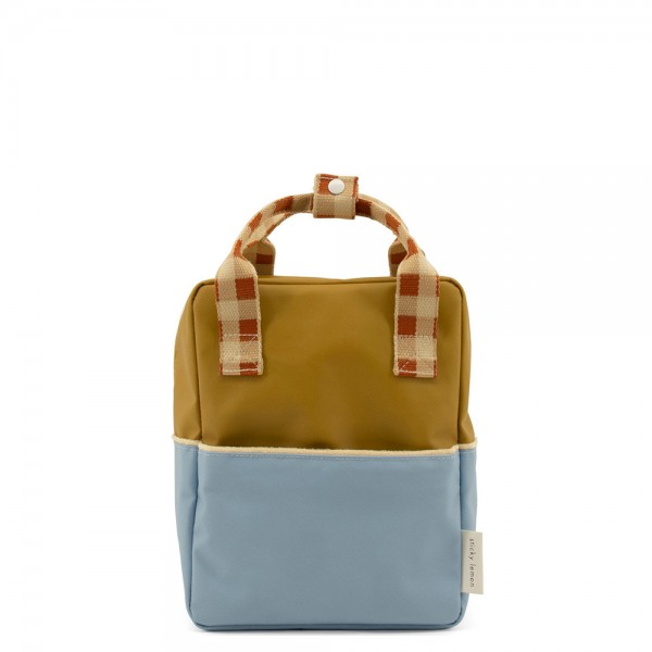 Rucksack small Colourblocking blueberry · willow brown · pear green