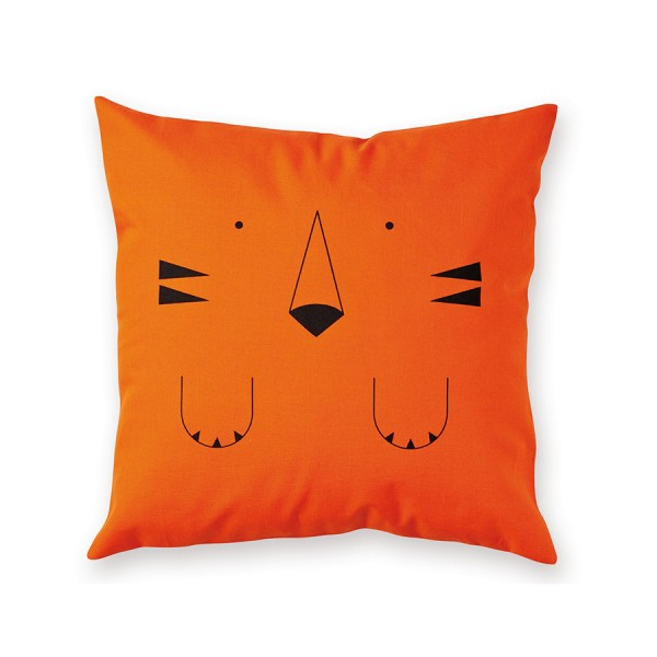 Kissen 40x40cm Tigre orange Made in France - Design by Bandjo