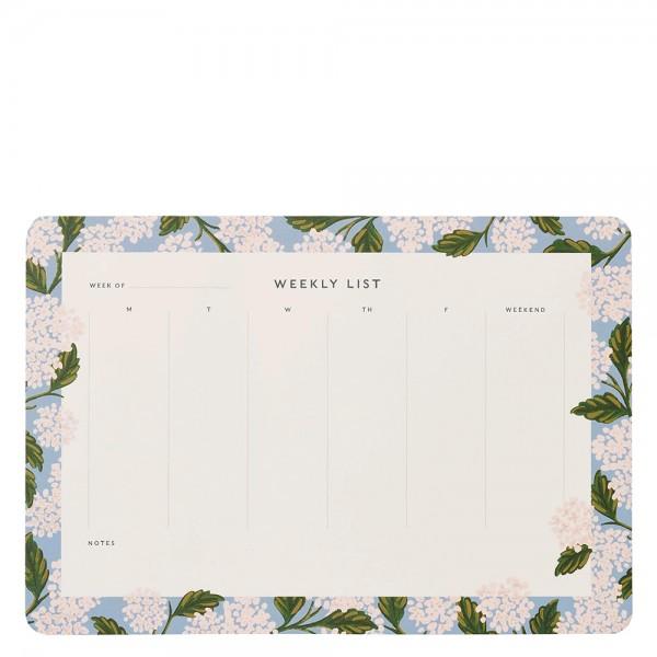 Weekly Desk Pad Hydrangea