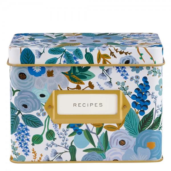 Rezepte-Box Garden Party Blue