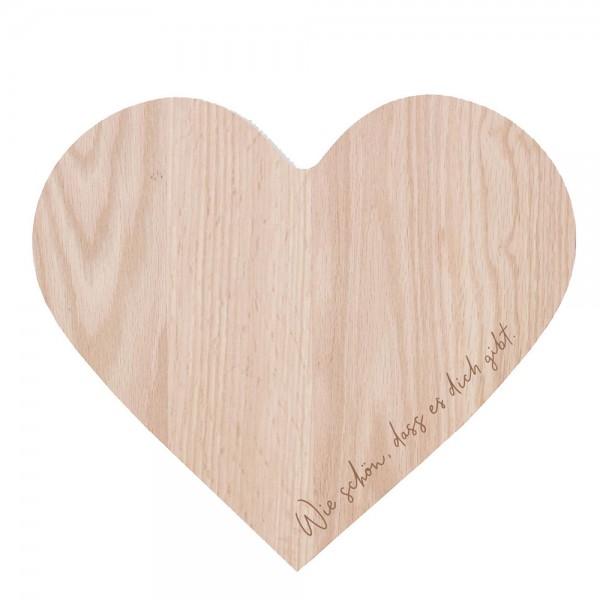Brettchen Herz aus Buchenholz