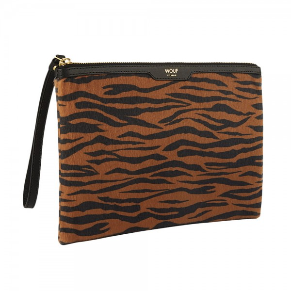 Night Clutch Tiger aus Kunstfell