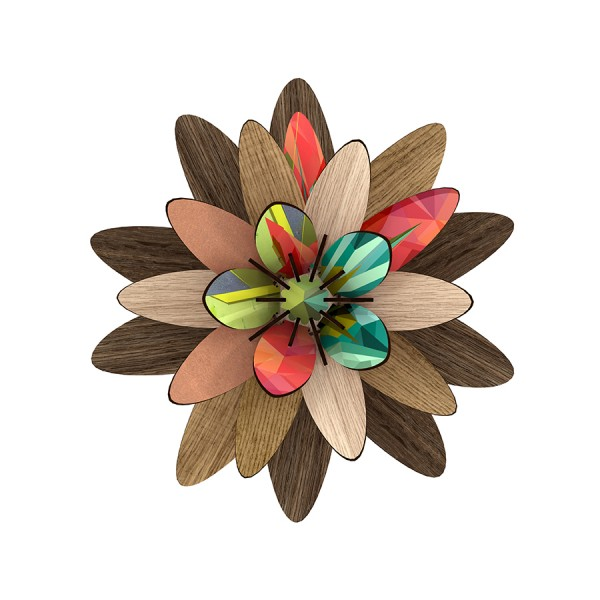 Deko-Blume Flower - Freezing Vibrations als Wand- und Tischdeko
