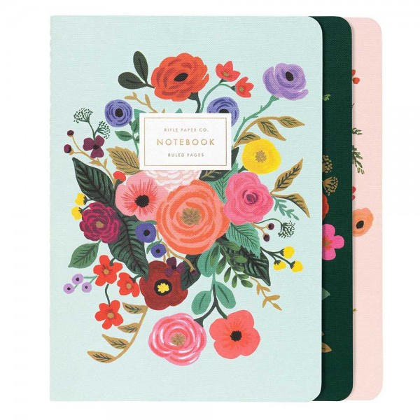 Stitched Notebook 3er-Set Garden Party
