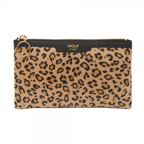 Pocket Clutch Bag Safari aus Kunstfell