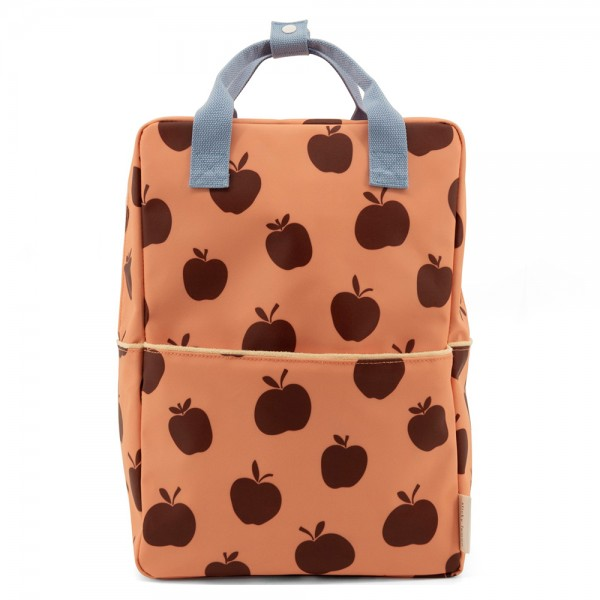 Rucksack large Special Edition Apples berry swirl · cherry red · sunny blue