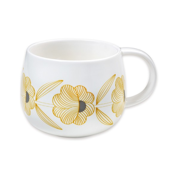 best loved ac8e5 d1aea Porzellan-Tasse Moon Fleurs jaunes - Design by Mr. & Mrs. Clynk