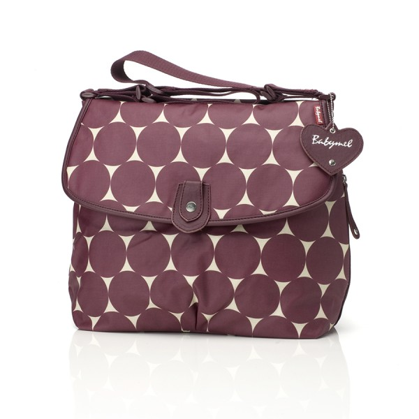 Wickeltasche Satchel Jumbo Dot Cherry