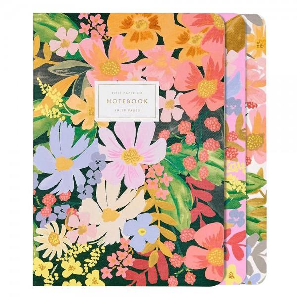 Stitched Notebook 3er-Set Marguerite