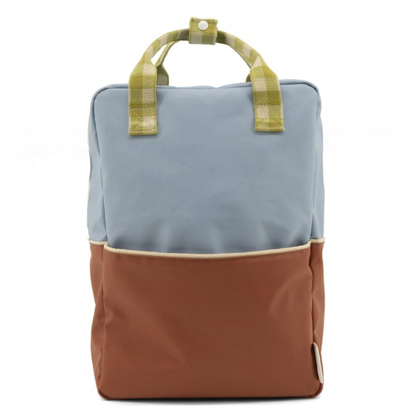 Rucksack large Colourblocking blueberry · willow brown · pear green