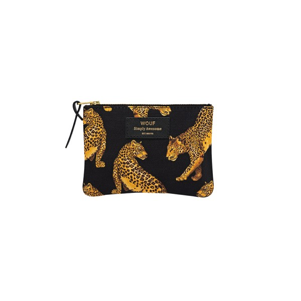 Small Pouch Black Leopard