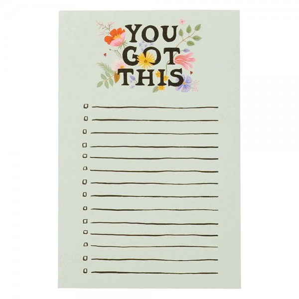 Notepad Checklist YOU GOT THIS