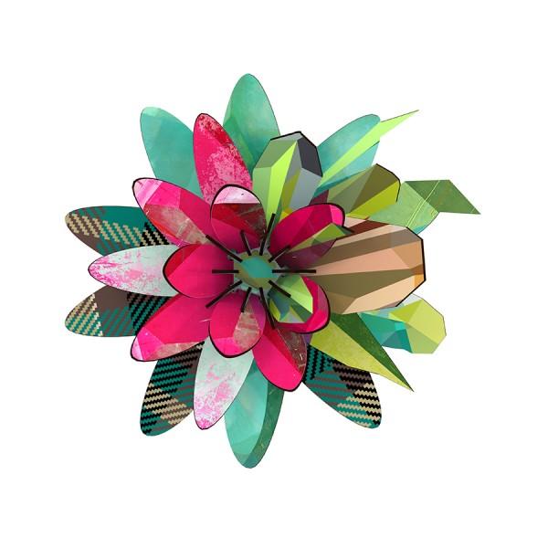 Deko-Blume Flower - Aurora Borealis als Wand- und Tischdeko