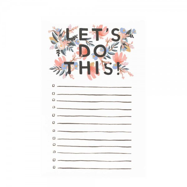 Notepad Checklist Let´s do this