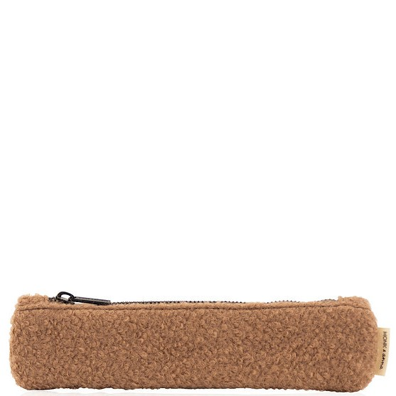 Pencil Case small Teddy wool cacao