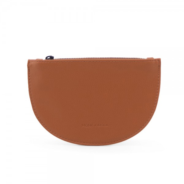 Moon Wallet Mondo burnt orange veganes Leder