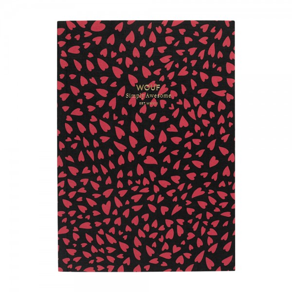Notebook A5 liniert Hearts