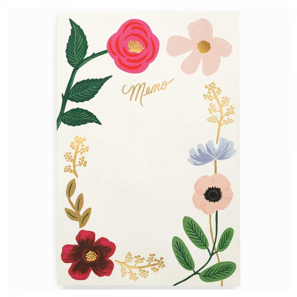 Large Memo Notepad Wildflowers