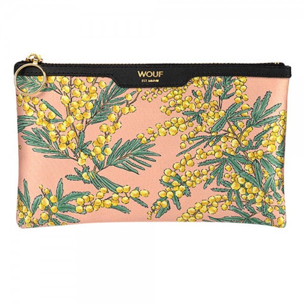 Pocket Clutch Bag Satin Mimosa