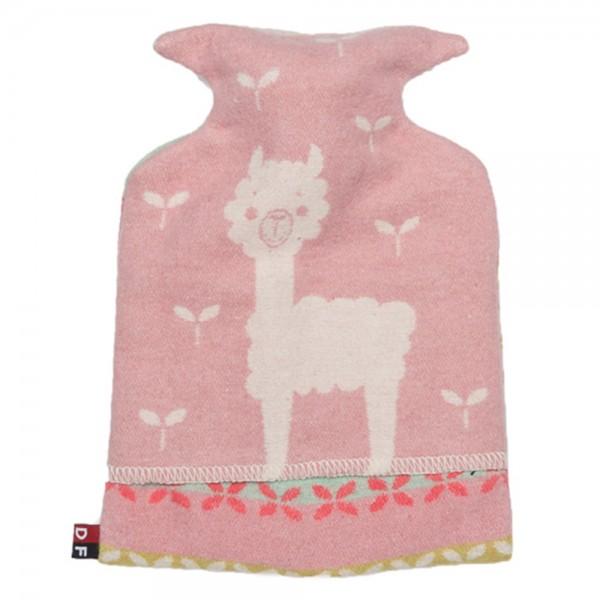Kinderwärmflasche Lama rosa